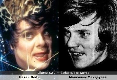 Малкольм Макдауэлл и Натан Лейн