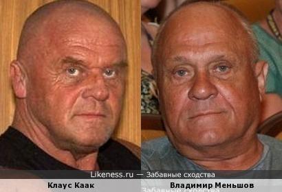 Клаус Каак(Klaus Kaak) и Владимир Меньшов(репост)