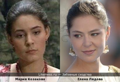 Елена Лядова и Мария Козакова