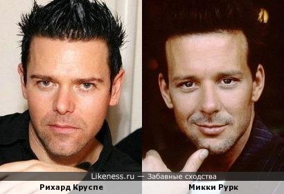 Рихард Круспе и Микки Рурк