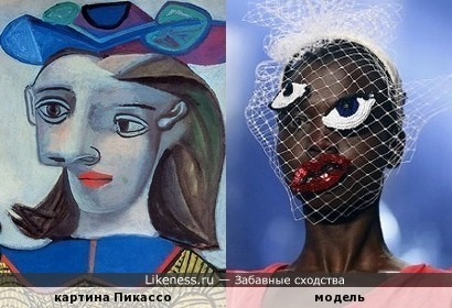 картина Пикассо и модель