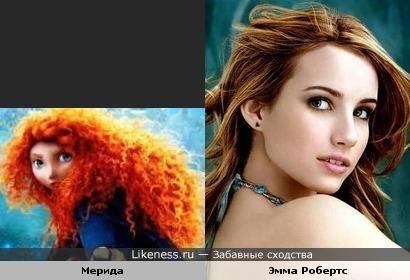 Эмма Робертс похожа на Мериду