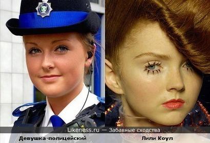 Лили Коул похожа на девушку-полицейского