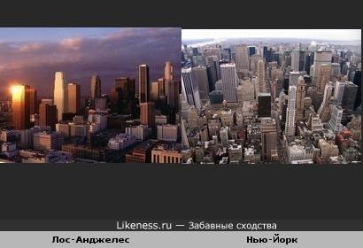 Лос-Анджелес и Нью-Йорк