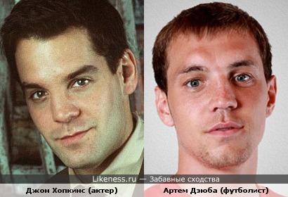 Актер Джон Хопкинс похож на футболиста Артема Дзюбу