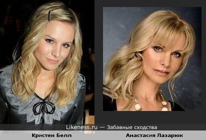 Кристен Белл и Анастасия Лазарюк
