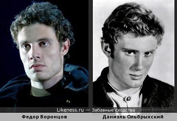 актер Театра Вахтангова Фёдор Воронцов похож на Даниэля Ольбрыхского