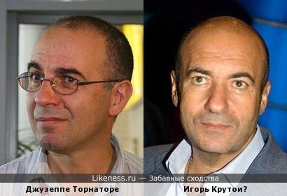 Известный итальянский кинорежиссер Джузеппе Торнаторе и Игорь Крутой
