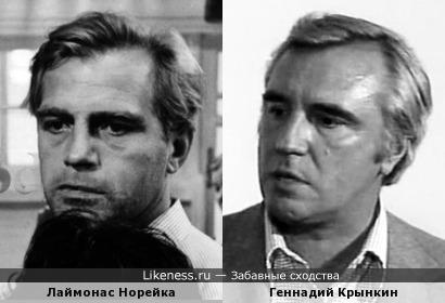 Лаймонас Норейка и Геннадий Крынкин