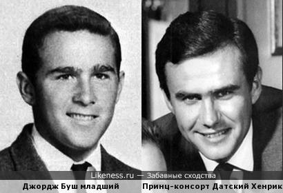 43-й президент США Джордж Буш младший и Принц-консорт Датский Хенрик