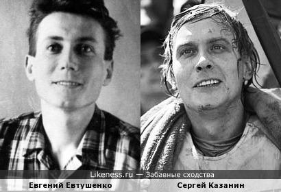 Фото Сергея Казанина, на котором он похож на Евгения Евтушенко