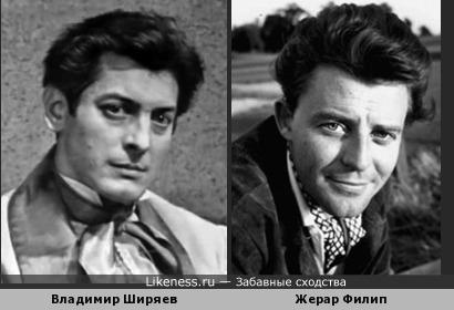 Странно, что никто не обратил внимание на похожесть Жерара Филипа и Владимира Ширяева