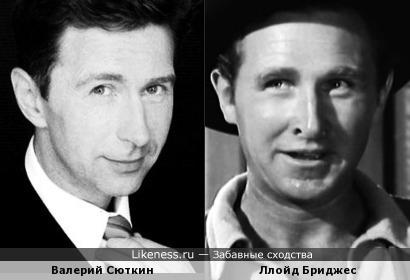 Валерий Сюткин похож на незабываемого голливудского актёра Ллойда Бриджеса