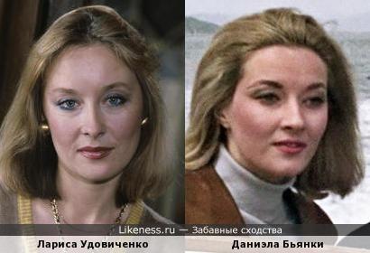 Лариса Удовиченко и Даниэла Бьянки в бондиане