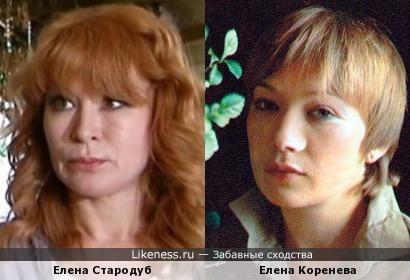 Елена Стародуб и Елена Коренева