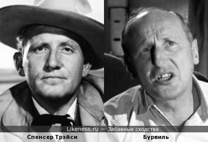 Внешнее сходство двух старых актеров с совершенно разными амплуа (Второе дыхание)