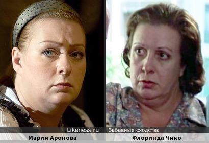 Мария Аронова и Флоринда Чико