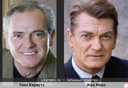 С возрастом великолепный актёр Гене Бервутс стал иногда напоминать Жана Маре