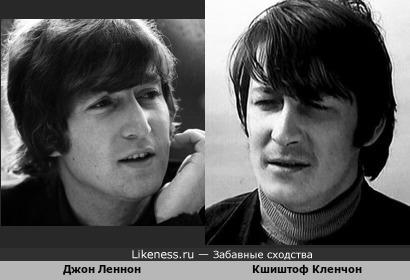 Польский музыкант, певец и композитор Кшиштоф Кленчон на этом фото сильно напоминает Джона Леннона. Кшиштоф ушёл из жизни на следующий год после убийства Леннона