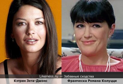 Кэтрин Зета-Джонс и Франческа Романа Колуцци