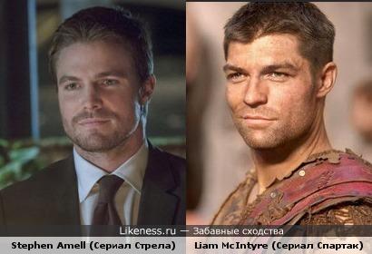 Спартак и Оливер Квинн из Стрелы