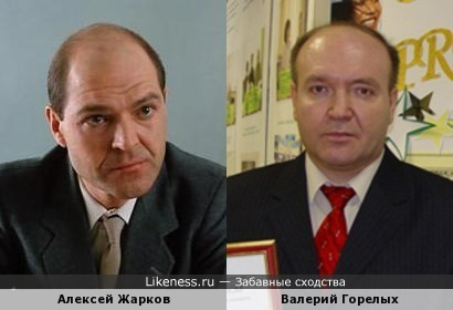 Алексей Жарков (актер) похож на Валерия Горелых (ГУ МВД)
