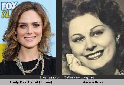 Emily Deschanel похожa на Marika Rökk