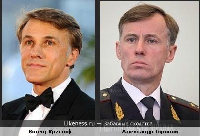Первый заместитель министра внутренних дел РФ Александр Владимирович Горовой похож на актера Вольца Кристофора