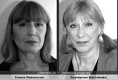 Елена Левинская похожа на Екатерину Васильеву
