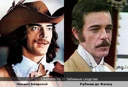 Михаил Боярский похож на Рубенша де Фалку в роли Леонсио