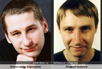 Александр Карпухов похож на Андрея Кайкова