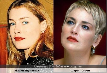 Мария Шукшина похожа на Шэрон Стоун