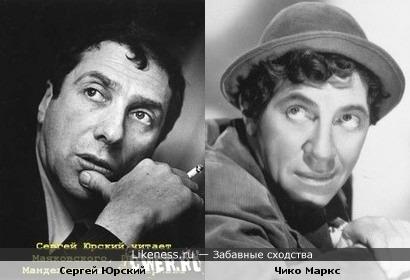 Сергей Юрский похож на Чико Маркса