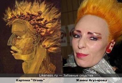 Женщина с картины Джузеппе Арчимболдо похожа на Жанну Агузарову