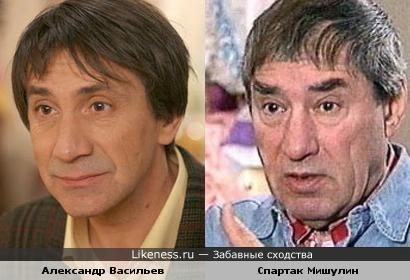 Александр Васильев похож на Спартака Мишулина