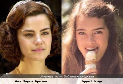 Ана Паула Арозио похожа на Брук Шилдс