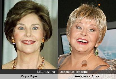 Лора Буш похожа на Ангелину Вовк