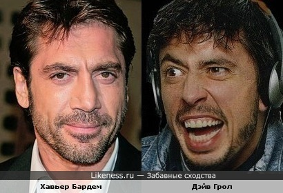 Хавьер Бардем и Дэйв Грол (Foo Fighters)