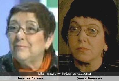 Режиссер Наталия Басина похожа на актрису Ольгу Волкову