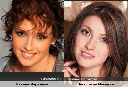 Оксана Марченко и Анастасия Макеева