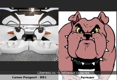 Салон Peugeot - BB1 изнутри похож на бульдога