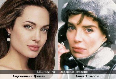 Анна Томсон будто подрастрепавшася Джоли