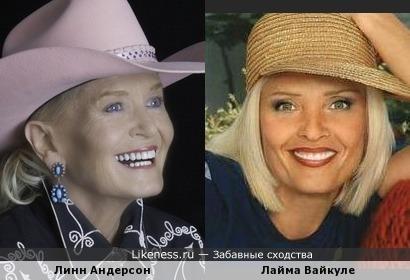 Линн Андерсон в ковбойской шляпе напомнла Лайму Вайкуле