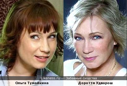 Венгерская актриса Дороття Удварош похожа на Ольгу Тумайкину