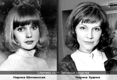 Актрисы Марина Шиманская и Марина Зудина