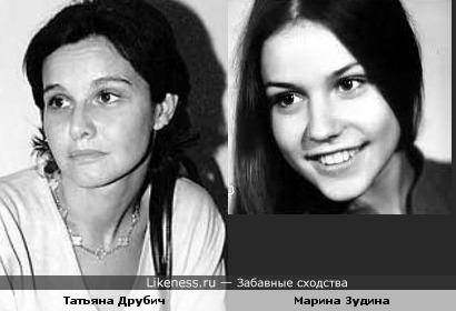 Актрисы Татьяна Друбич и Марина Зудина
