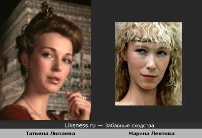 Актрисы Татьяна Лютаева и Марина Левтова
