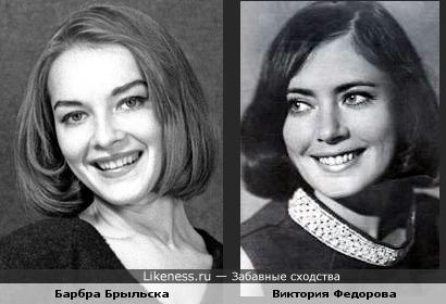 Актрисы Барбра Брыльска и Виктория Федорова