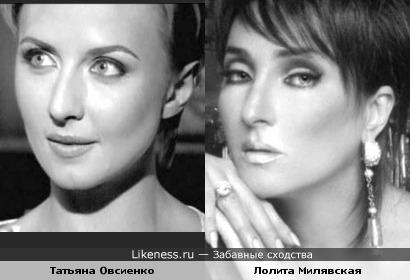 Певицы Татьяна Овсиенко и Лолита Милявская