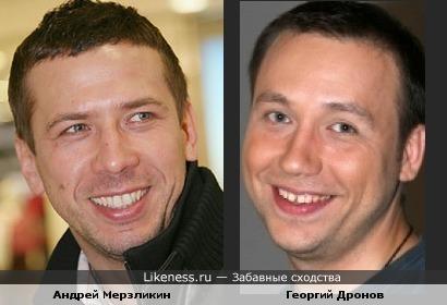 Актеры Андрей Мерзликин и Георгий Дронов